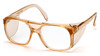 Pyramex SC210C Monitor Safety Glasses, Frame: Caramel , Lens: Clear