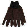 Memphis 7100 Men's Brown Jersey Work Gloves, Size Large