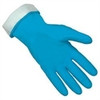 Memphis 5299B Blue Flock-Lined Latex Glove, Size 10 - 10 1/2 (12 Pair)