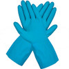 Liberty Glove 2886l/M Blue Latex Canners Glove Scalloped Cuff Size Medium (12 Pair)