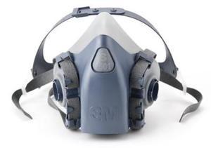 3m half face piece respirator large mask model 6300/07026
