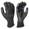 Cordova 6898CB Polyester Glove, Black PU Palm Coating, 13-Gauge Black Polyester Shell , XS (12 Pair)