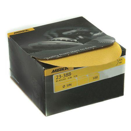 """Mirka 23-388-320 Gold 5"""" PSA Autobox Discs 320 Grit (100/Bx)"""