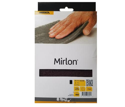 "Mirka 18-118-447RP Mirlon Total 4-1/2"" x 9"" VF 360G NW Scuff Pad Retail Pkg, 3 Sheets/Pkg"