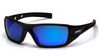 Pyramex - Velar SB10465D Safety Glasses Black Frame, Ice Blue Mirror Lens (Qty. 12)