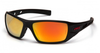 Pyramex - Velar SBRF10445D Safety Glasses Black & Red Frame Ice Orange Mirror Lens (Qty. 12)