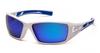 Pyramex - Velar SWBL10465D White & Blue Frame Ice Blue Mirror Lens (Qty. 12)