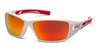 Pyramex - Velar SWR10455D Safety Glasses White & Red Frame Sky Red Mirror Lens (Qty. 12)