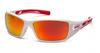 Pyramex - Velar SWR10455D White & Red Frame Sky Red Mirror Lens (Qty. 12)