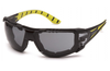 Pyramex SBGR9620STMFP  Endeavor Plus Safety Glasses Anti-Fog Gray Lens w/ Black & Green Temples w/ Foam Padding (Qty. 12)