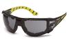 Pyramex SBGR9620STMFP  Endeavor Plus H2MAX Anti-Fog Gray Lens w/ Black & Green Temples w/ Foam Padding (Qty. 12)
