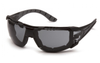 Pyramex SBG9620STMFP Endeavor Plus Safety Glasses Gray Anti-Fog Lens w/ Black & Gray Temples w/ Foam Padding (Qty. 12)