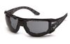 Pyramex SBG9620STMFP Endeavor Plus Gray Anti-Fog Lens w/ Black & Gray Temples w/ Foam Padding (Qty. 12)