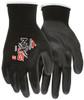 MCR Safety 9669XL, 13 Gauge Black Nylon Shell, Black PU Palm & Fingers, XL (12pr)