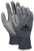 MCR Safety 9696S, UltraTech® PU 13 Gauge Gray Nylon Shell Gray PU Coated Palm, S (12pr)