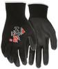 MCR Safety 96699S, 13 Gauge Black Polyester Shell, Black PU Palm & Fingers, S (12pr)