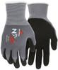 MCR Safety 967315L, NXG 15- Gauge Gray Nylon Shell Foam Nitrile Palm and Fingers, L (12pr)