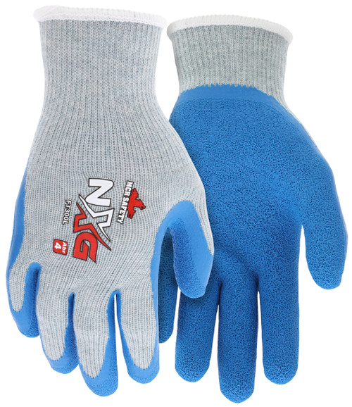 MCR Safety FT300M, NXG 10 Gauge Gray Cotton Polyester Shell Latex Palm & Fingers, M (12pr)