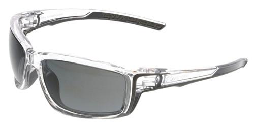 MCR Safety Swagger® SR417BZDC Black Mirror Polarized MAX36™ lens w/ Clear Frame (12 pr)