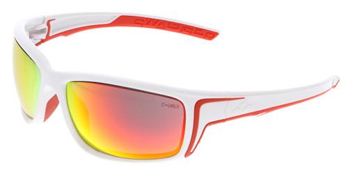 MCR Safety Swagger® SR44R Fire Mirror Lens w/ White Frame w/ Red TPR (12 pr)