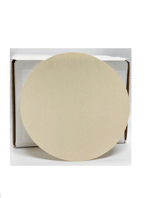 "Elite White Plus 5"" Non-Vac Grip Discs, 320G (100/box)"