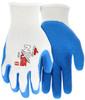MCR Safety Flex-Tuff 9680XL 10 Gauge, Blue Latex Palm & Fingers, XL (12pr)