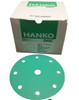 "Hanko Festool-Ready 6"", 9-Hole Green Film Sanding Discs Hook & Loop 120G (100 Per Box)"
