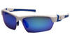 Venture Gear Tensaw VGSWB365T Safety Glasses - Ice Blue Mirror Anti-Fog Lens with White/Blue Frame