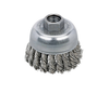"Dynabrade 78823 - Knot Wire Cup Brush 2-3/4"" (70 mm) Dia. x .020 x 5/8""-11 UNC AH Stainless Steel"