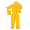MCR Safety 2403 3 Piece Yellow Rain Suit Jacket w/ Detachable Hood and Bibpants, Size 3XL (1 Each)