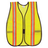 MCR Safety V200R Hi-Vis Vest Lime w/Orange/Silver Reflective Stripes (12 Pack)