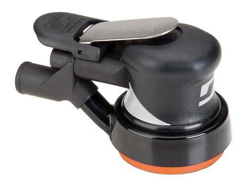 "Dynabrade 56804 - 3-1/2"" Dia. Central Vacuum Dynorbital Supreme Random Orbital Sander, .28 hp, 12,000 RPM, 3/16"" (5 mm) Dia. Orbit, Rear Exhaust"