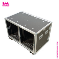 12 RU Double Wide Shock Mount Rack w/Pocket Doors