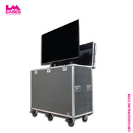 "60"" TV Lift Road Case With Monitor Installed"