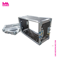 "6U, 8"" Deep Shallow Preview Monitor Flight Case Rack"