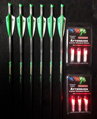 6 Victory Crossbow Arrows/Bolts (6 Red Lighted Nocks)