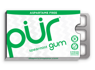 PUR Spearmint Chewing Gum