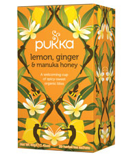 Pukka Herbs Lemon Ginger and Manuka Honey Tea