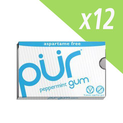 PUR Peppermint Aspartame Free Chewing Gum Carton