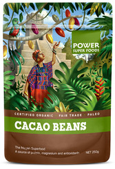 Power Super Foods Cacao Beans - Origin 250g