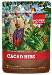 Power Super Foods Cacao Nibs Raw - Origin 500g