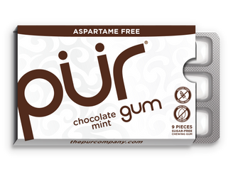 PUR Chocolate Mint Gum 12.6g