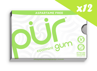 PUR Coolmint Gum 12.6g CARTON (12 PACKETS)