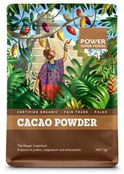 Power Super Foods Cacao Powder - Origin 1Kg