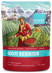 Power Super Foods Goji Berries Org Raw Dried 125g