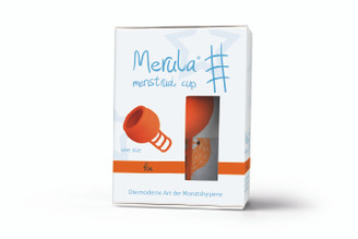 Merula Menstrual Cup - Fox (Orange) 38ml
