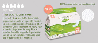 Organyc Maternity (First Days) Pads