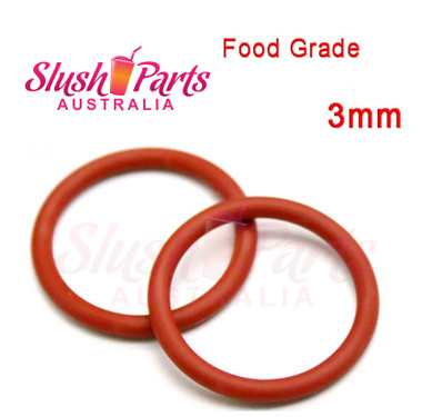Red O-Ring 3mm Thickness QTY: 1