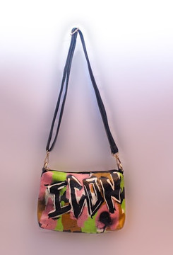 'ICON' GRAFFITI SHOULDER BAG