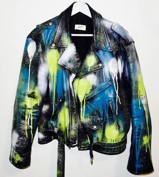 Drippy Leather Jacket